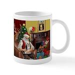 Santa's Lhasa Apso Mug