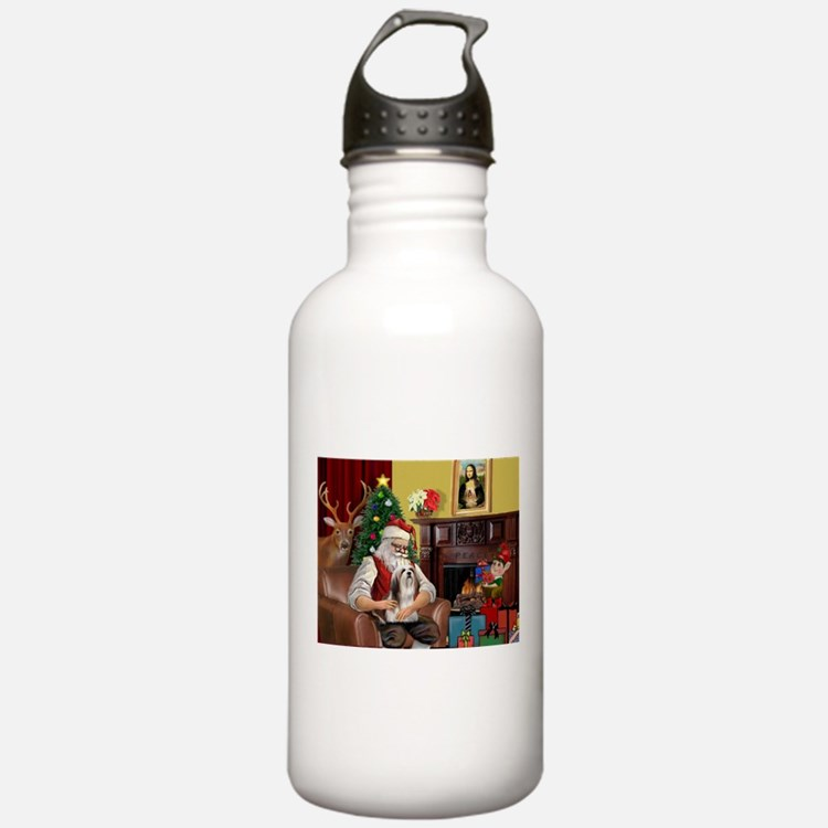 Santa's Lhasa Apso Water Bottle