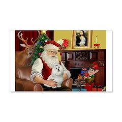 Santa's Maltese 22x14 Wall Peel