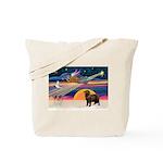XmasStar/ Newfie Tote Bag