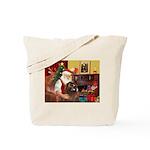 Santa's Newfoundland (br) Tote Bag