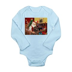 Santa's Newfoundland (br) Long Sleeve Infant Bodys