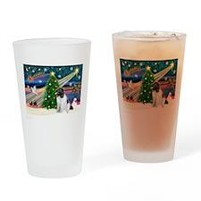 Xmas Magic & Newfie Drinking Glass