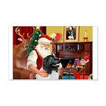 Santa's Newfie (L) 22x14 Wall Peel