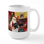 Santa's Newfie (L) Large Mug