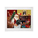 Santa's Newfie (L) Throw Blanket