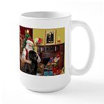 Santa's Newfie Large Mug