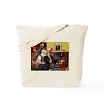 Santa's Newfie Tote Bag