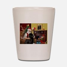 Santa's Newfie Shot Glass