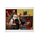 Santa's Newfie Throw Blanket