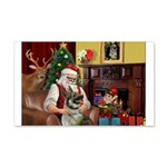 Santa/Norwegian Elkhound 22x14 Wall Peel