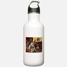 Santa/Norwegian Elkhound Water Bottle