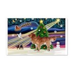 XmasStar/Nova Scotia dog 22x14 Wall Peel