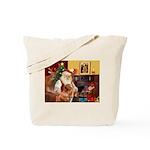Santa/Nova Scotia Dog Tote Bag