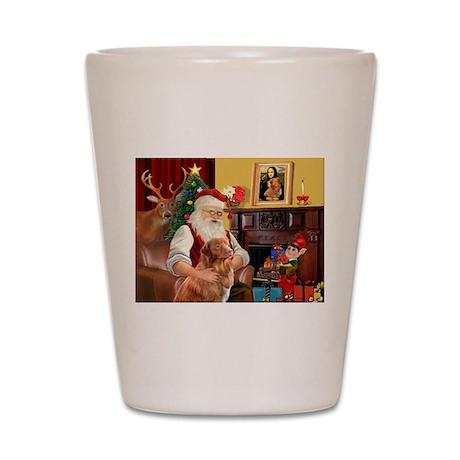 Santa/Nova Scotia Dog Shot Glass