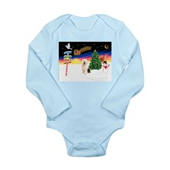 XmasSigns/Old English #3 Long Sleeve Infant Bodysu