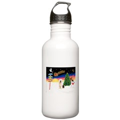 XmasSigns/Old English #3 Water Bottle