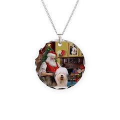 Santa's Old English #5 Necklace