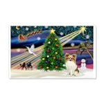 Xmas Magic Papillon (f) 22x14 Wall Peel