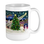 Xmas Magic Papillon (f) Large Mug