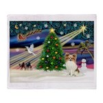 Xmas Magic Papillon (f) Throw Blanket