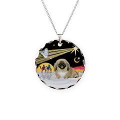 Wisemen/Pekingese Necklace