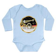 Wisemen/Pekingese Long Sleeve Infant Bodysuit