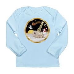 Night Flight/Pekingese Long Sleeve Infant T-Shirt