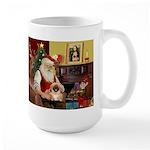 Santa's Pekingese (#1rd) Large Mug