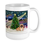 XmasMagic/Pekingese (red) Large Mug