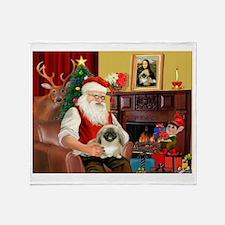 Santa's Pekingese (#1b) Throw Blanket