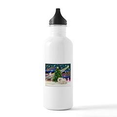 XmasMagic/Pekingese (4w) Water Bottle