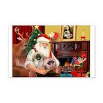 Santa's 2 Pekingese 22x14 Wall Peel