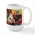 Santa's 2 Pekingese Large Mug