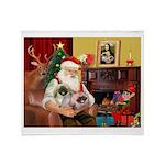 Santa's 2 Pekingese Throw Blanket