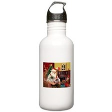 Santa's 2 Pekingese Water Bottle