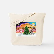 XmasMusic2/PBGV #5 Tote Bag