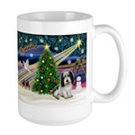 Xmas Magic/PBGV (#1) Large Mug