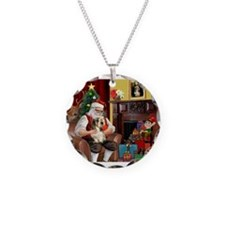 Santa's Petit Basset Necklace