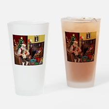 Santa's Petit Basset Drinking Glass