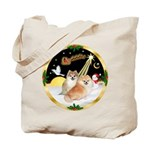 Night Flight/2 Pomeranians Tote Bag