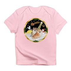 Night Flight/2 Pomeranians Infant T-Shirt