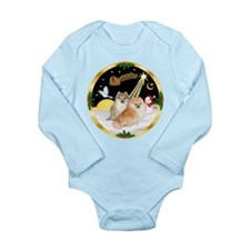 Night Flight/2 Pomeranians Long Sleeve Infant Body