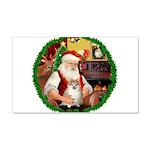 Santa's Pomeranian #1 22x14 Wall Peel