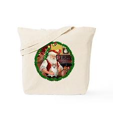 Santa's Pomeranian #1 Tote Bag