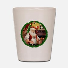 Santa's Pomeranian #1 Shot Glass