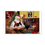 Santa's Pomeranian (bw) 22x14 Wall Peel