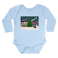 XmasMagic/Pom (prti) Long Sleeve Infant Bodysuit