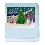 Christmas Magic & Pomeranian baby blanket