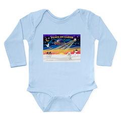 XmasSunrise/Poodle Min Long Sleeve Infant Bodysuit